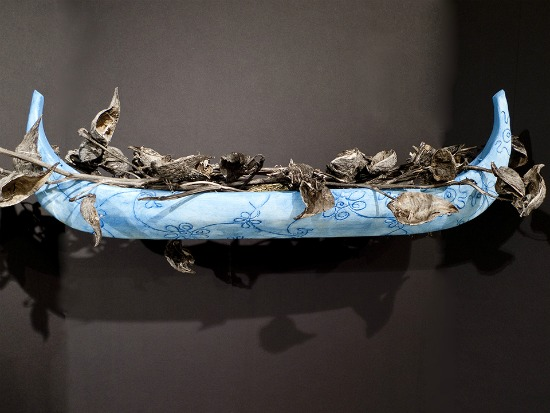 Lake Effect Memory Boat Filled (Winter), Elizabeth Fergus-Jean