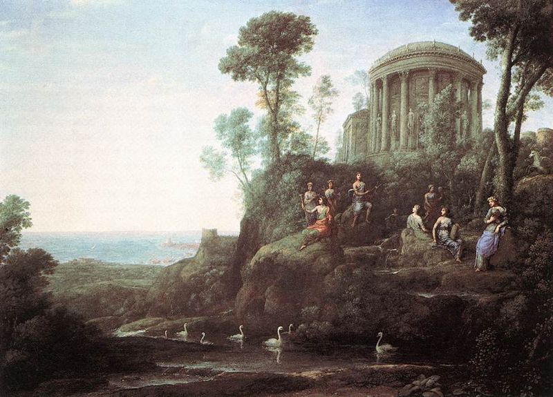 Claude Lorrain, Apollo and the Muses on Mt Helicon