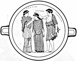 Athene, Pandora and Hephaistos
