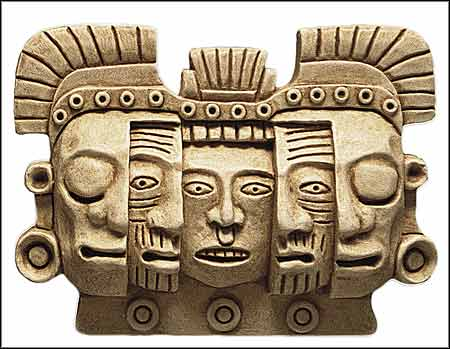 precolumbian mask of death